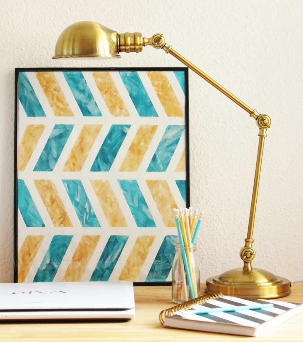DIY Chevron Wall Art_3