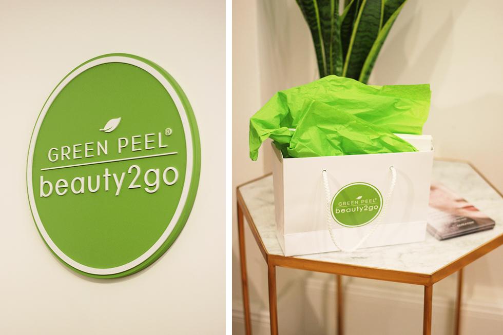 get the glow mit green peel beauty2go. Black Bedroom Furniture Sets. Home Design Ideas